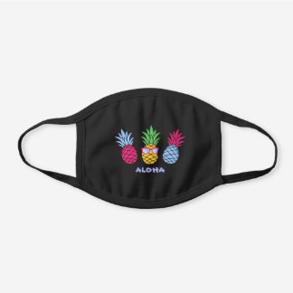 Pick Any Color Pineapple Cool Black Cotton Face Mask