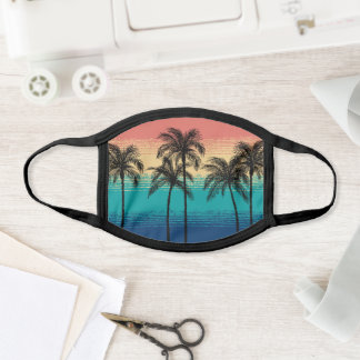 Pick Any Color Retro Rustic Tropical Pattern Face Mask