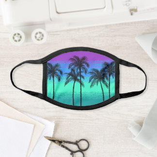Pick Any Color Tropical Pattern Teal Blue Purple Face Mask