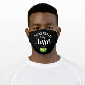 Pickleball is my Jam Funny Dinking Gift Adult Cloth Face Mask
