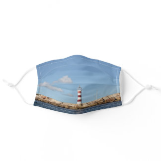 Picturesque Lighthouse in the Caribbean Adult Cloth Face Mask