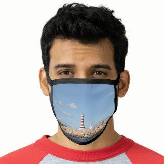 Picturesque Lighthouse in the Caribbean Face Mask