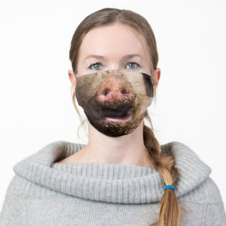 Pig Face - Snout - Funny - Adult Cloth Face Mask