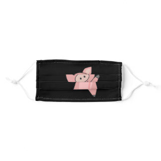 Pig Piggy Cute Animals For Kids Pink Adult Cloth Face Mask