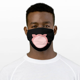 Pig Piglet Piglet Pink Funny Spherical Adult Cloth Face Mask