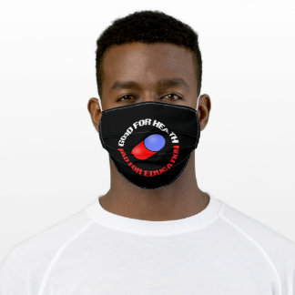 pill good for health bad for education adult cloth face mask