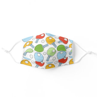 Ping Pong Pattern Adult Cloth Face Mask