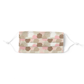 Pink And Brown Mum Pattern Adult Cloth Face Mask