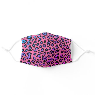 Pink and Purple Animal Print Adult Cloth Face Mask