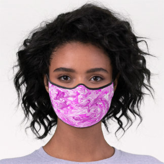 Pink and purple watercolor premium face mask