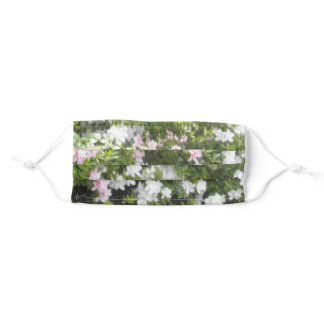 Pink And White Flowers Adult Cloth Face Mask