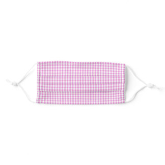 Pink And White Gingham Adult Cloth Face Mask