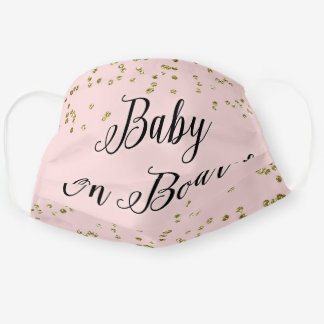 Pink Baby On Board Mommy To Be Cloth Face Mask