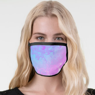 Pink Blue Purple Abstract Pattern Face Mask