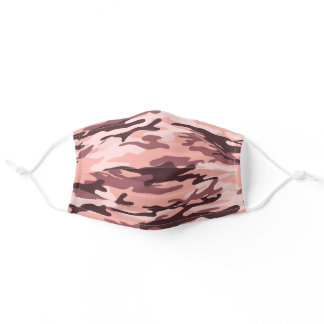 Pink Blush Girly Camo Adult Cloth Face Mask