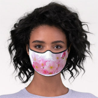 Pink Cherry Blossoms Premium Face Mask