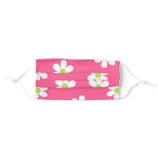 Pink Daisies Adult Cloth Face Mask