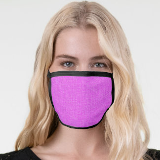 Pink fabric textured face mask