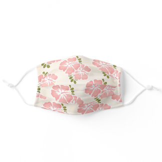Pink Hibiscus Adult Cloth Face Mask