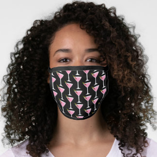 Pink Martini Cocktail Pattern Face Mask