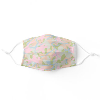 Pink Olive Pastels Camouflage Pattern Adult Cloth Face Mask