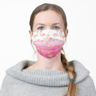 Pink Ombre Flamingos Adult Cloth Face Mask