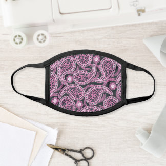 Pink paisley face mask