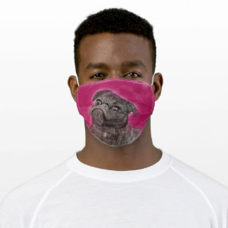 Pink Pug Adult Cloth Face Mask
