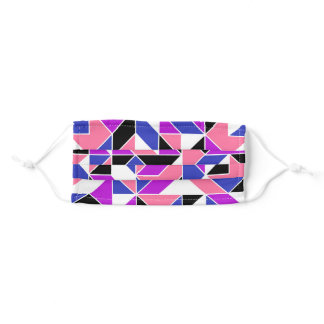 Pink Purple Blue Black White Genderfluid Abstract Adult Cloth Face Mask