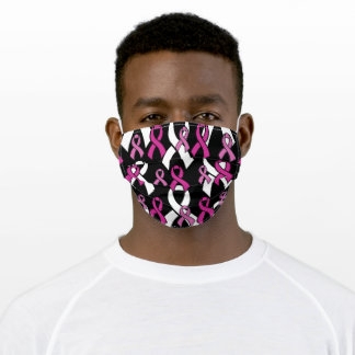 Pink Ribbons...Breast Cancer Adult Cloth Face Mask