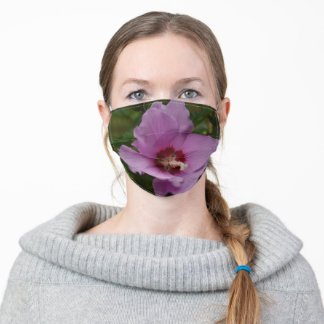 Pink Rose Of Sharon Adult Cloth Face Mask
