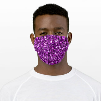 Pink Sequins Adult Cloth Face Mask