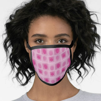 Pink square & circle face mask