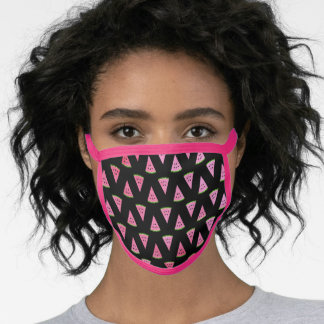 Pink Summer Watermelon Girly Cotton & Poly Blend Face Mask