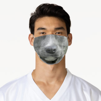 Pit Bull Grey Dog Face Protection Cute Puppy Adult Cloth Face Mask