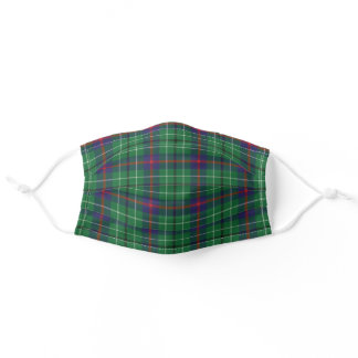 Plaid Clan Duncan Tartan Green Purple Red Pattern Adult Cloth Face Mask