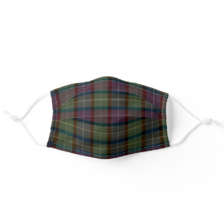 Plaid Cloth Face Mask with Filter Slot