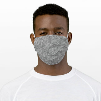 Plain Grey Crosshatch Weave Print Abstract Adult Cloth Face Mask