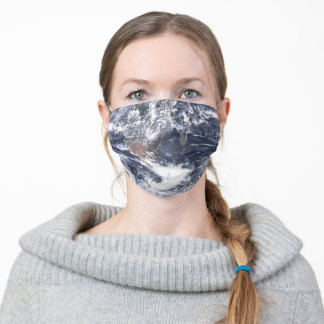 Planet Earth From Space Adult Cloth Face Mask