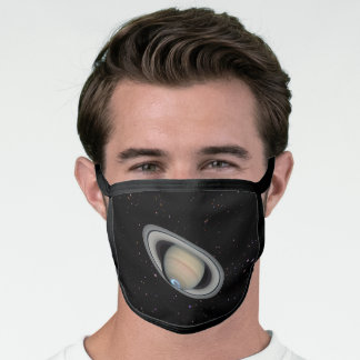 Planet Saturn Starry Sky Face Mask
