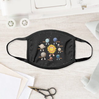 Planets and The Solar System Face Mask