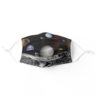 Planets of the solar system adult cloth face mask