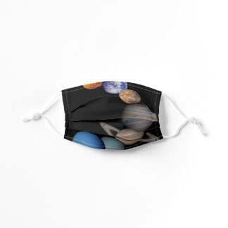 Planets of the solar system kids' cloth face mask