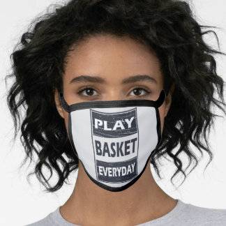 play basketball everyday face mask