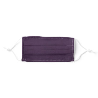 Plum Silk Adult Cloth Face Mask