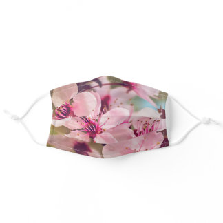Plum Tree Blossoms Adult Cloth Face Mask