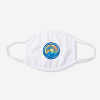Point Fermin Elementary School Logo Personalized White Cotton Face Mask