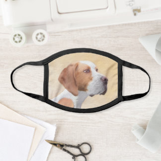 Pointer Painting - Cute Original Dog Art Face Mask