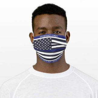 Police Dept, THin blue Line Products Adult Cloth Face Mask