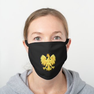 Polish eagle black cotton face mask